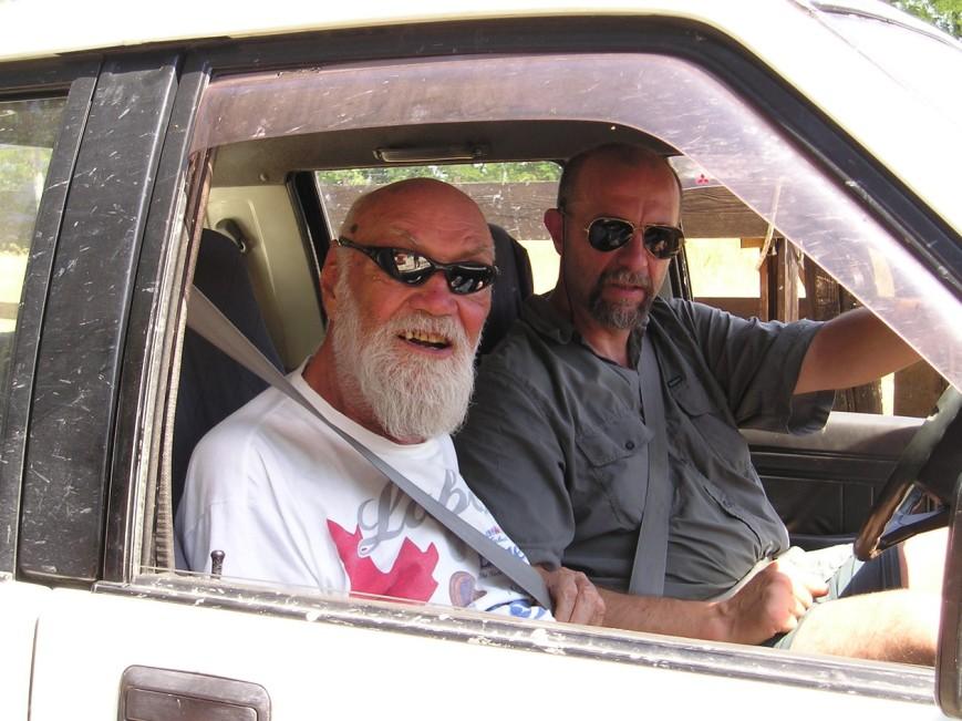 Sergio Stocchi riparte con Marco dopo la sua ultima visita ai lavori.