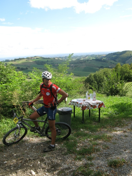 Fare tappa in mountain bike...